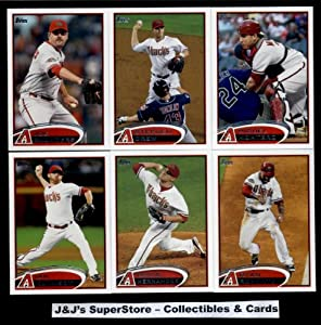 2012 Topps Arizona Diamondbacks MLB Team Set In Ultra Pro Album (Series 1 & 2) - 18 Cards - includes Kubel, Wade Miley RC, Upton, Young, Goldschmidt, Hudson, Collmenter, Kennedy,Ryan Roberts, Drew, Montero Plus more