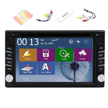 Internet 3G Dongle + Windows 8 2015 New Model 6.2 pouces 2-DIN šŠcran tactile LCD de tableau de bord voiture lecteur DVD avec DVD / CD / MP3 / MP4 / USB / SD / AMFm / RDS Radio / bluetooth / stšŠršŠo / audio et GP