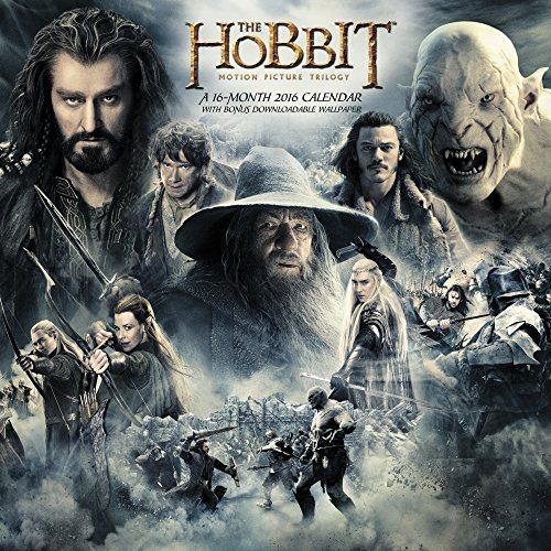 The Hobbit Motion Picture Trilogy Wall Calendar (2016)