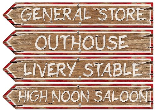 Western Sign Cutouts (4/Pkg)