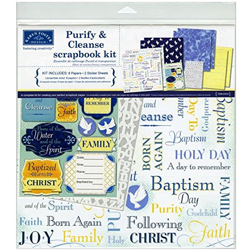 Karen Foster Design Themed Paper And Stickers Scrapbook Kit, Baptism front-9229