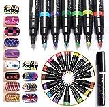 (メイクアップエーシーシー) MakeupAcc カラーネイルアートペン 3Dネイルペン ネイルアートペン ネイルマニキュア液 ペイントペン ペイント 両用 DIY 16色 (16色) [並行輸入品]