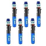 6 Pack Turbo Blue Torch Stick Multi Purpose Refillable Butane Lighter (Color: Blue)