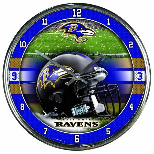 NFL Baltimore Ravens Chrome Clock