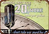1938 Vauxhall Cars Gas Mileage Vintage Look Reproduction Metal Tin Sign 12X18 Inches