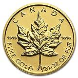 2014年 金地金 カナダ メイプルリーフ金貨  1/20オンス oz Gold Maple Leaf 1$ コイン  並行輸入品