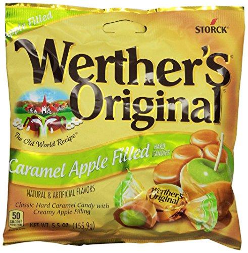 Werther's Original Caramel, Apple Filled, 5.5-Ounce (Pack of 6)