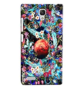 Omnam Planet With Flower And Shower Printed Back Cover Case For Xiaomi Redmi Note Prime