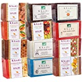 Khadi Mauri Herbal Ayurvedic Soaps Pack Of 12 Assorted Exotic Handcrafted Natural Beauty Soaps