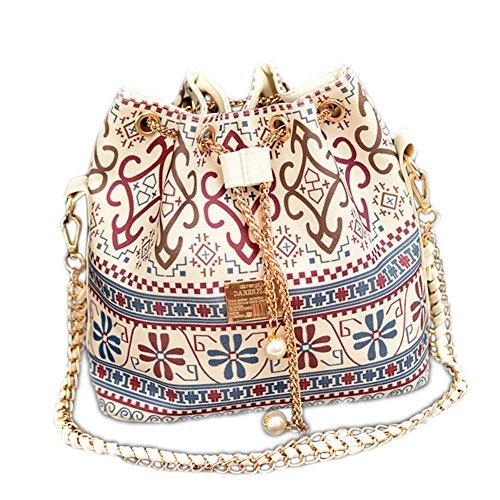 deley-femme-ethniques-style-fourre-tout-sac-a-main-chaine-sac-a-bandouliere-bucket-bag-blanc