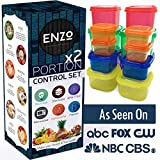 Portion Control Containers 2 Set (14 Pieces) - For Weight Loss and Diet Programs with Lids perfect for measuring food for your 21 Day Diet Plan and Healthy Fitness Meal Prep Lifestyle