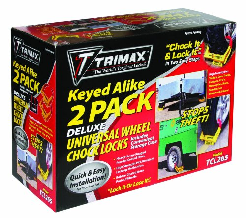 Trimax TCL265 Small Deluxe Keyed Alike Wheel Chock Lock, (Pack of 2) (Small Wheel Chock compare prices)