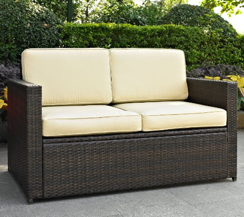 Crosley Furniture Palm Harbor Outdoor Wicker Loveseat picture