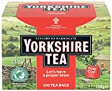Taylors Yorkshire Tea Bags with Tags (Pack of 1, Total 100 Tea Bags)