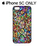 Disney All Character Diamond iPhone 4-4s-5-5s-5c Phone Mobile Case Cover (iPhone 5c, Black)