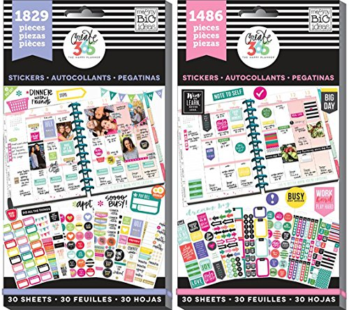 Create 365 Happy Planner Sticker Value Pack Bundle with Planner Basics and Everyday Plans (Set of 2 Items) (Value Pack Stickers compare prices)