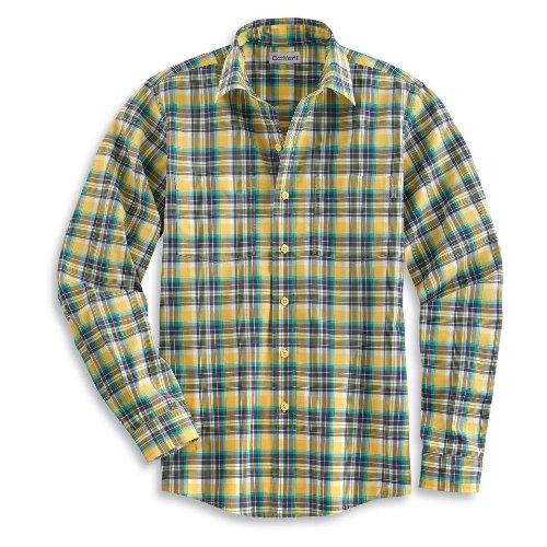 Carhartt Men's Long Sleeve Lightweight Plaid Shirt