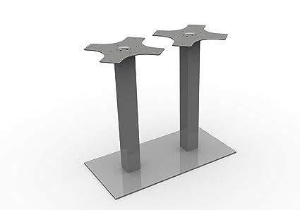 Tavolo struttura 2-pilastri H 725 mm in alluminio anodizzato