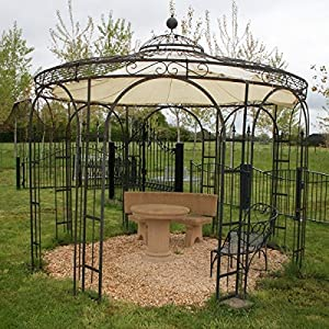 garden gazebo gazebo gazebo rosenpavillon iron round metal gazebo holland eisenblank 260 cm. Black Bedroom Furniture Sets. Home Design Ideas