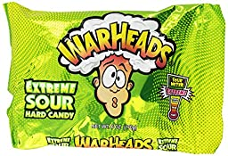 Warheads Extreme Sour Hard Candy Assorted Flavors 6 Ounce (Pack of 2)