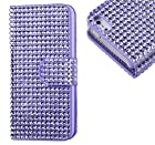 myLife (TM) Diamond Purple Haze Bling {Rhinestone Design} Faux Leather (Card