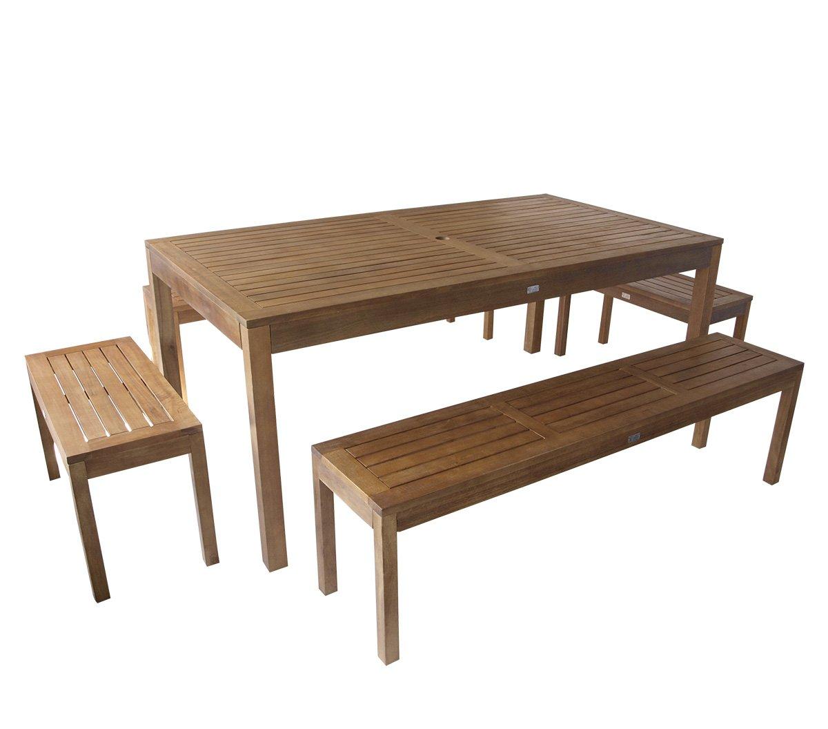 Garnitur Malmö 5-teilig 180cm im Loft-Stil, Eukalyptus Holz, FSC®-zertifiziert online kaufen