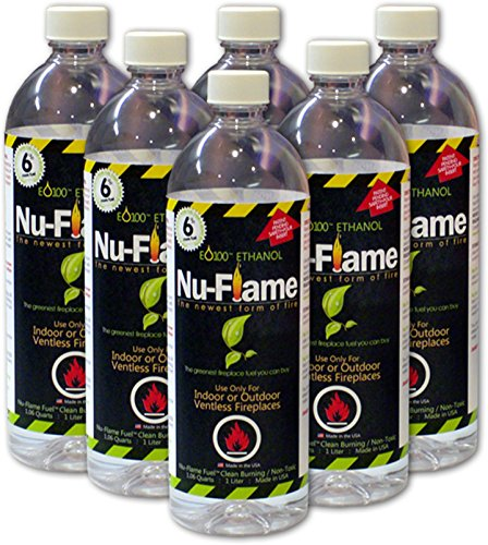Find Discount Nu-Flame Liquid Ethanol Fireplace Fuel, 1-Liter Bottle, 6-Pack