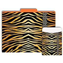 Tiger Animal Print Folder & Pocket Combo Pack
