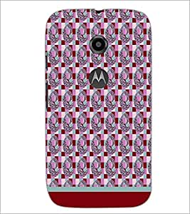 PrintDhaba Pattern D-1784 Back Case Cover for MOTOROLA MOTO E2 (Multi-Coloured)