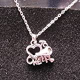 Pewter Love to Cheer Necklace