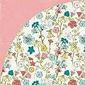 Basic Grey Tea Garden Jasmine Vintage Floral Scrapbook Paper