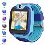 Kids Smartwatch Children Phone Smart Watch Two-Way Call Games Camera Music Player 1.54 inch Touch Screen Boys Girls Gift … (Color: s6_blue, Tamaño: 2.015 * 1.535 * 0.5 inch)