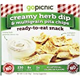 Gopicnic Ready-to-Eat Snacks Creamy Herb Dip and Multigrain Pita Chips, 6 Count