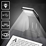 Ytuomzi LED Lamp USB Rechargeable Flexible Night Reading 4 Level Brightness 360 °Adjustable Clip on Work/Desk/Bed Lights for Amazon Kindle/eBook Reader/Book/iPad (Color: Black)