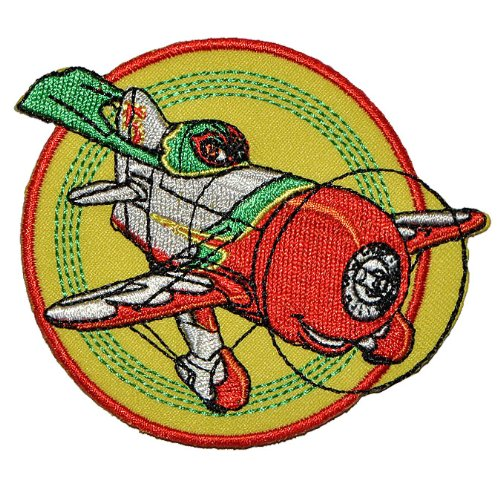 Bügelbild - Disney Planes El Chupacabra 8,3 cm * 6,8 cm - Aufnäher Applikation Flugzeug Granville Gee Bee Mexiko