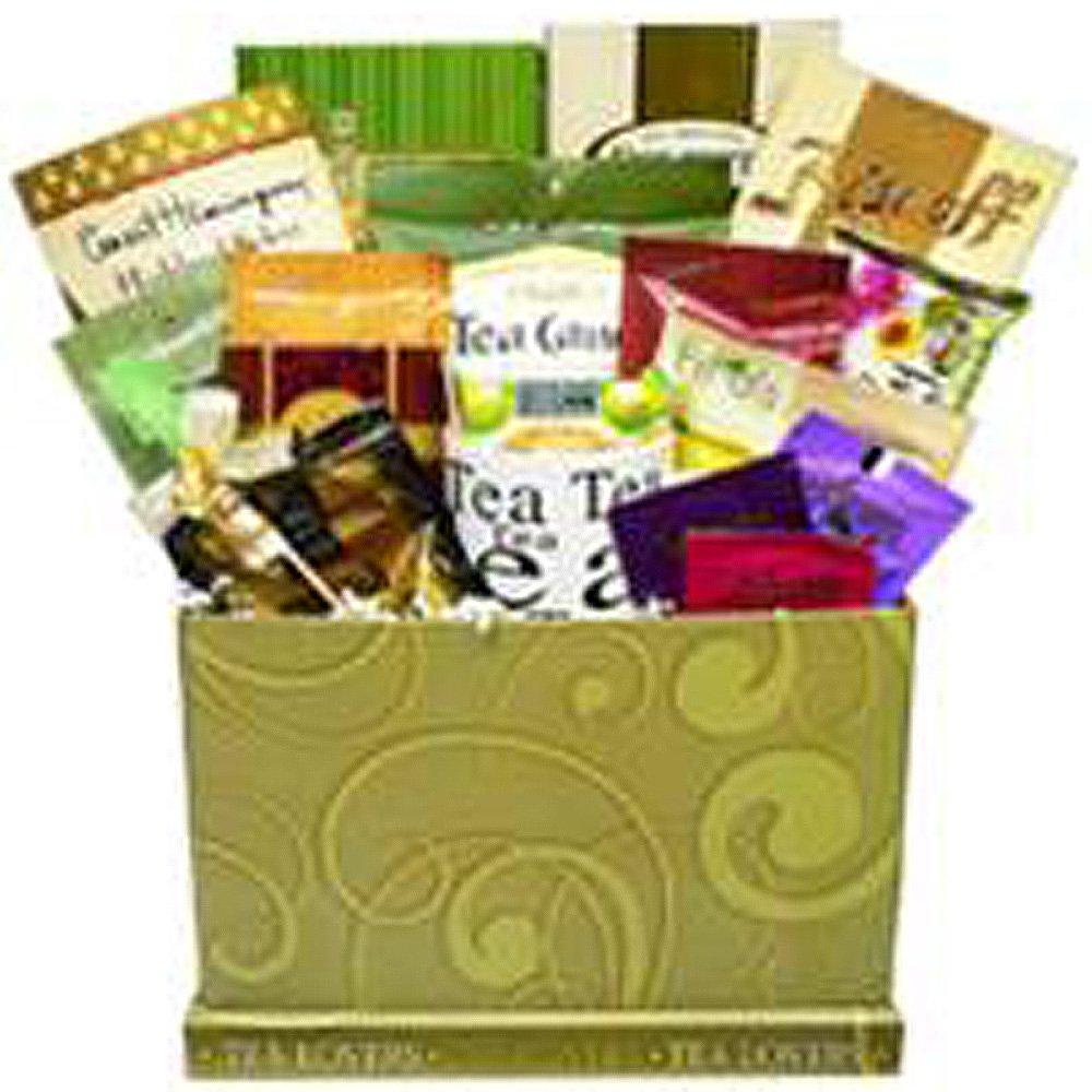 Arte de cestas Presente da apreciação amantes de chá Celebre chá, lanches e guloseimas Cuidados caixa de presente do pacote, 5 Libra