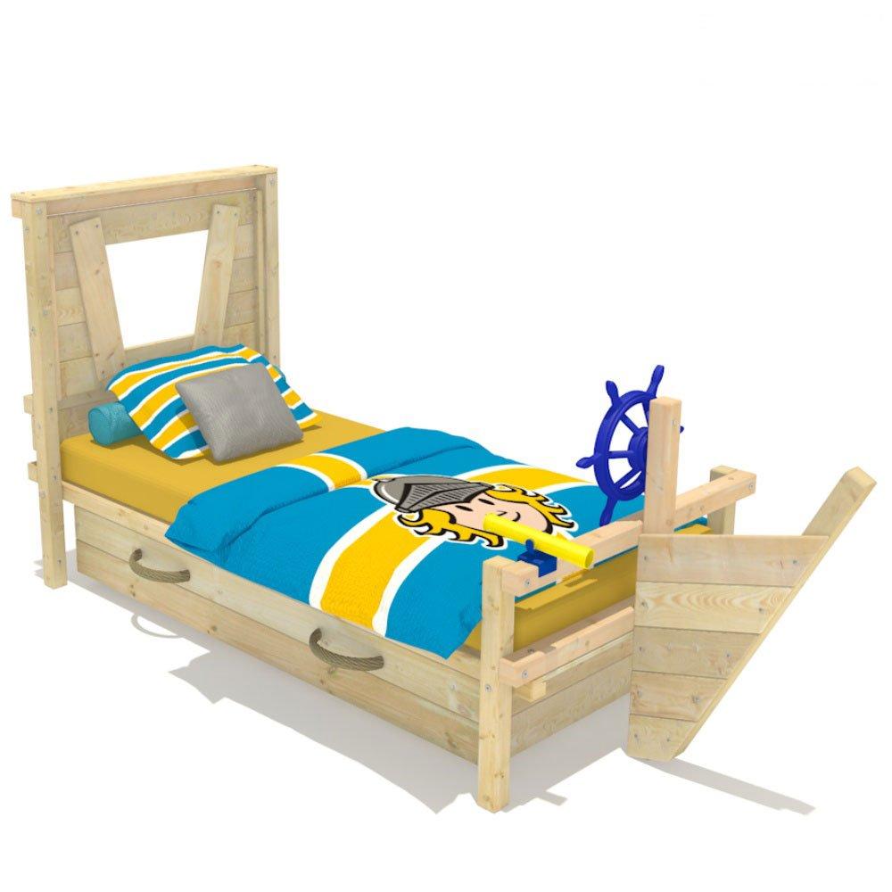 Wickeydream Kinderbett Abenteuerbett Spielbett Captain Sam 90x200cm Schiffslenker Blau günstig kaufen