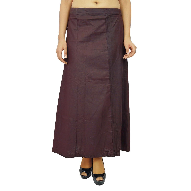 Inskirt Futter für Sari Ethnische indischen Fertig Solide Baumwolle Petticoat günstig online kaufen