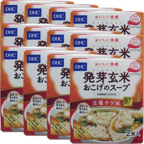 DHC 発芽玄米おこげのスープ〈食物繊維入〉 豆腐チゲ風 2食入 ×12個