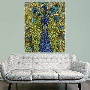 My Wonderful Walls Mr. Pavo Real Peacock Animal Art Wall Sticker Decal