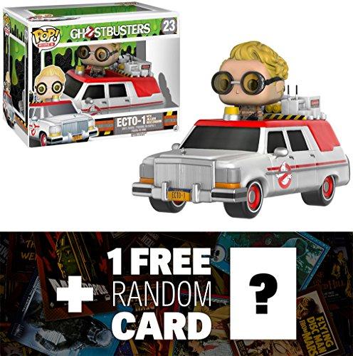 Ecto-1 & Jillian Holtzmann: Funko POP! Rides x Ghostbusters Vinyl Figure + 1 FREE Classic Sci-fi & Horror Movies Trading Card Bundle (076290)