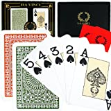 Da Vinci Club Casino, Italian 100% Plastic Playing Cards, 2-Deck Set Poker Size Jumbo Index, with Hard Shell Case & 2 Cut Cards