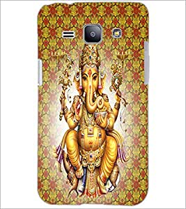 PrintDhaba Lord Ganesha D-4730 Back Case Cover for SAMSUNG GALAXY J1 (Multi-Coloured)
