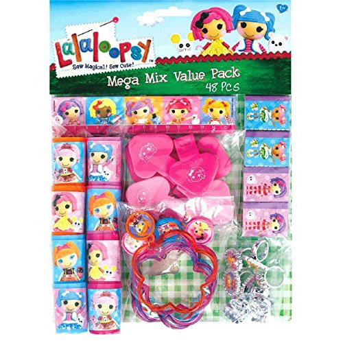 Amscan Adorable Lalaloopsy Mega Mix Value Pack (48 Piece), Multi