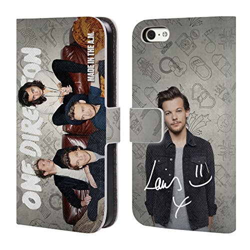 One Direction 1D Ufficiale Louis Divano Made In The A.m. Cover a portafoglio in pelle per Apple iPhone 5c