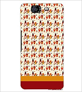 MICROMAX A350 CANVAS KNIGHT BIRDS PATTERN Designer Back Cover Case By PRINTSWAG