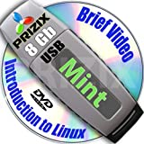 Mint Cinnamon 15 on 8gb USB Flash and Complete 3-disks DVD Installation and Reference Set, 32 and 64-bit