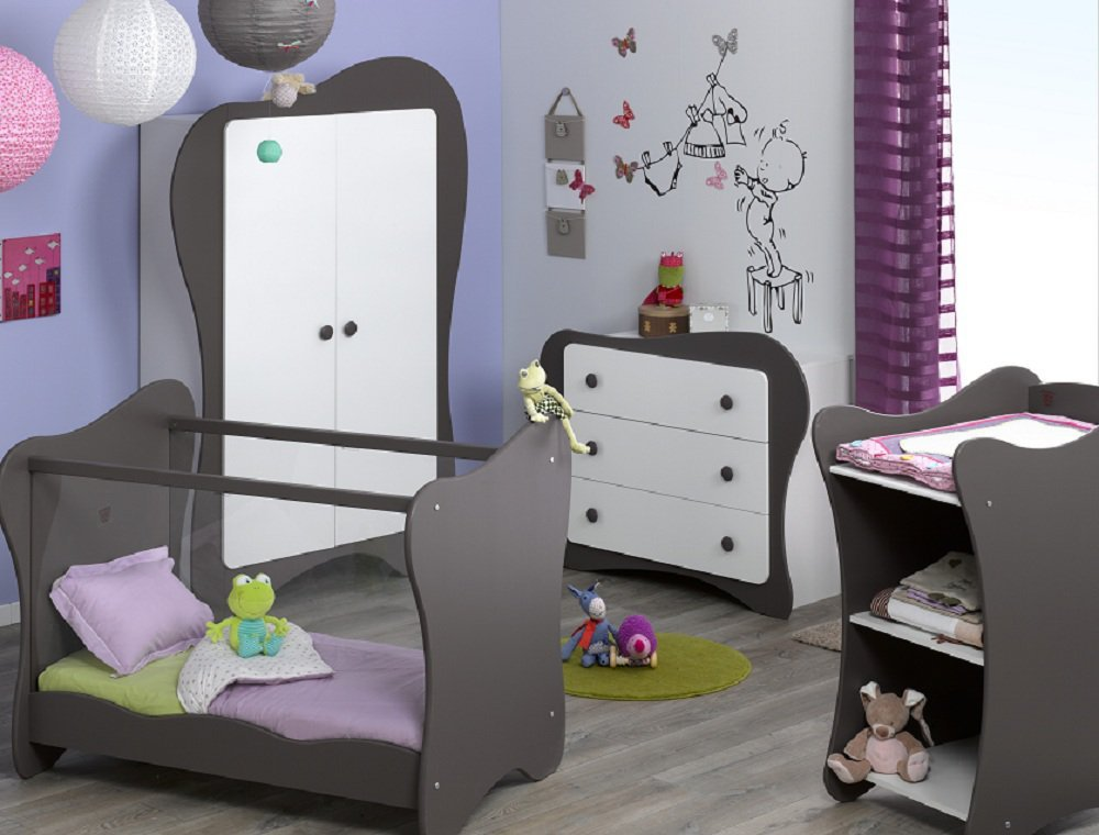 Babyzimmer komplett Iris weiß taupe günstig