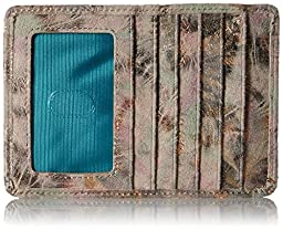 HOBO Vintage Euro Slide Wallet ID Holder, Metallic Star Burst, One Size