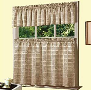 Buy Dainty Home Jeanette Kitchen Curtain Set Ivory Online At Low Prices In India